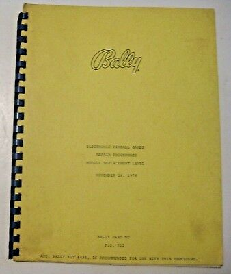 Vintage 1976 Electronic Pinball Repair Manual ~ Pinball & Arcade Machine Game