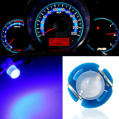 10x Blue T3 Neo Wedge LED Bulb Cluster Instrument Dash Climate Base Light Lamp
