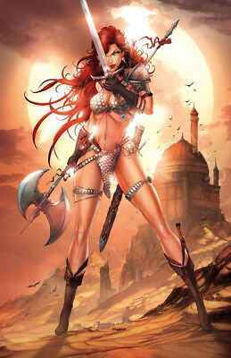 RED SONJA #1 Jamie Tyndall Virgin Variant Cover NM 1st Print   LIMITED TO 500