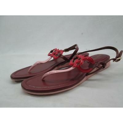 818f31d5f Cole Haan Women s True Red Blossom Pink Patent Leather Marnie Grand Sandal  6M