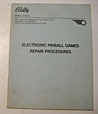 Vintage 1980 Bally Pinball Games Repair Manual ~ Pinball & Arcade Machine Game
