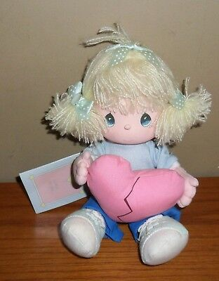 Vintage PRECIOUS Moments LOVE IS THE GLUE Soft Friendship DOLL 80's w Tags