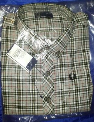 boys brand new authentic fred perry checked shirt, sz 4-5yrs BNWT