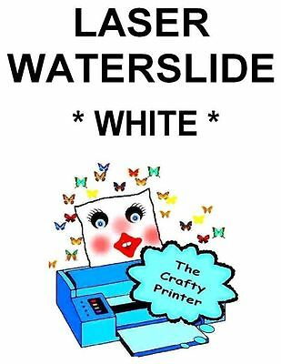 LASER Water Slide Decal Paper - 50 Sheets - WHITE
