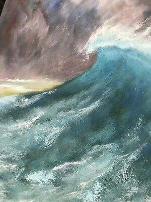 Seascape Wave Original Oil Painting artist David Stahl