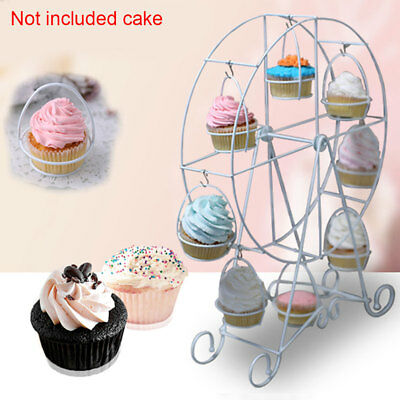 Supplies Holder Ferris Wheel Cake Stand Rotatable 8 Cups Party Cupcake Kitchen