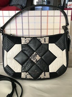 55275fdb87 Nwt Coach Canyon Quilt Chelsea Crossbody In Embossed Leather Purse Handbag