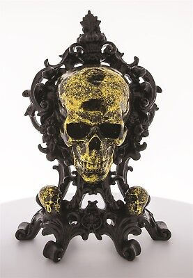 NEW Victorian Trading Co The Shrine Skull Halloween Mantle Piece