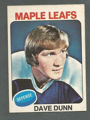 1975-76 OPC O-Pee-Chee Hockey Dave Dunn #187 Toronto Maple Leafs NM/MT