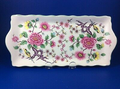 Old Foley James Kent Staffordshire Chinese Rose Sandwich Plate