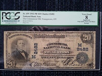 Youngstown Ohio 1902 PB $20 CH # 2482