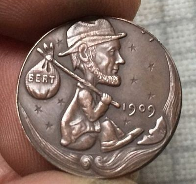 Hobo Nickel 1909 Traveler Lincoln Penny COIN