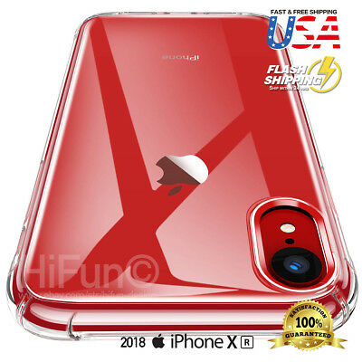 Fits iPhone XR Clear Transparent Shockproof Bumper Protective Case Cover HD