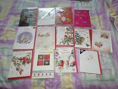 Small Joblot Of Family Christmas Cards All New Lot 5