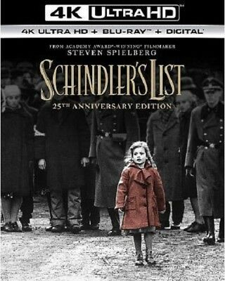 Schindler's List 4K Ultra Hd Blu Ray 3 Disc Set + Slipcover Sleeve Free Shipping
