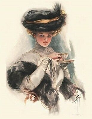 Victorian Trading Co. Woman with Tea Thank You Cards (PKG of 8)