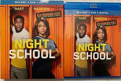 Night School Extended Cut Blu Ray Dvd 2 Disc Set + Slipcover Sleeve Free Shippin