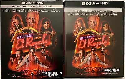 Bad Times At The El Royale 4K Ultra Hd Blu Ray 2 Disc Set + Slipcover Sleeve