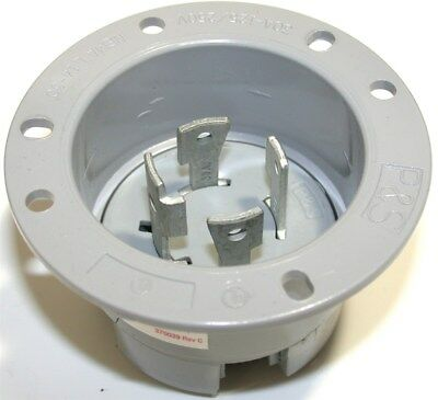 Up To 4 New Pass & Seymour L1430-FI Flanged Inlets 30A 125/250 Gray