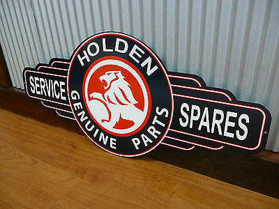 Holden Parts Service Spares metal tin sign bar garage petrol oil chev commodore