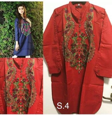 Designer Inspired Small Size-Embroidered Kurtas/Dresses/Tops