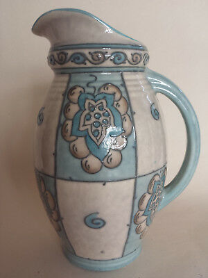Unusual Art Deco Charlotte Rhead Bursley Ware Large Jug