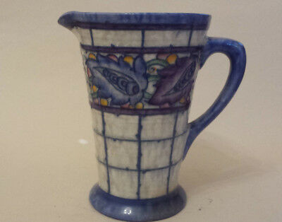 Art Deco Charlotte Rhead Crown Ducal 5391 'Blue Persian Leaf' Tubelined Jug