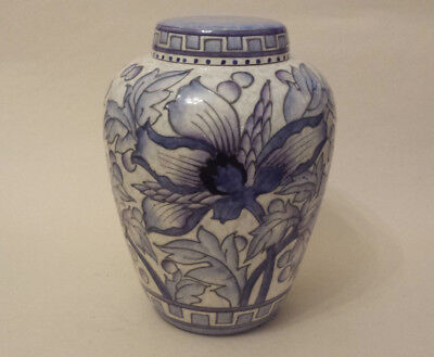 Art Deco Charlotte Rhead Crown Ducal TL43 'Wind Tossed Peony' Large Ginger Jar