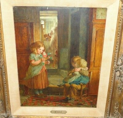 WILLIAM GALE Original Oil Painting on Wood Panel 11 x 9 Viewing Framed 18 x 16!
