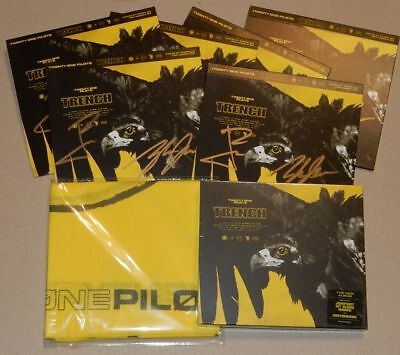 Twenty One Pilots Trench Aussie Ltd Signed Autographed CD & Bandana RARE New