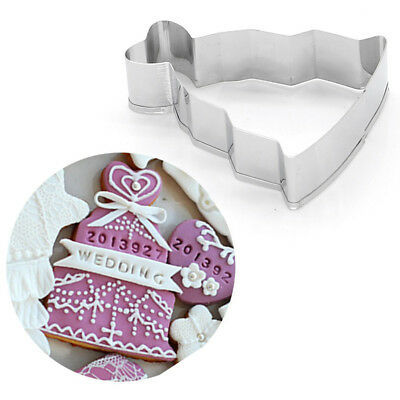 1PCS Stainless Steel Cookie Cutter Mold Fancy Plaque Frame Fondant Cake Mould