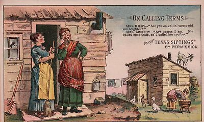 Arbuckles' Ariose Coffee Texas Siftings by Permission Victorian Trade Card