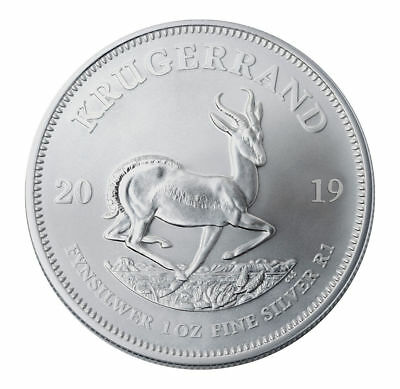 2019 South Africa 1 oz Silver Krugerrand 1 Rand Coin GEM BU PRESALE SKU56598