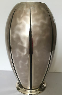 A Very Large Rare Vintage Bauhaus German Art Deco WMF IKORA Zeppelin Shape Vase