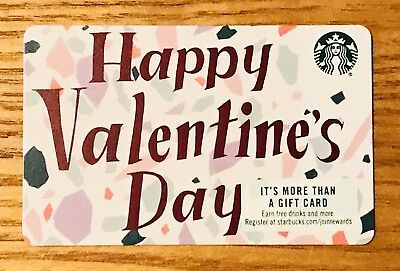 2019 Starbucks Card Happy Valentines Day Collectible #6162