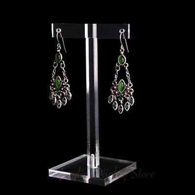 """Acrylic Clear Earring Display T-Bar Stand 4.5"""""""