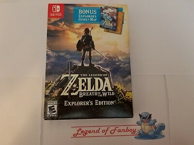 * New *  Legend of Zelda: Breath of the Wild Explorer's Edition Nintendo Switch