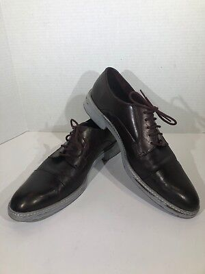 f7c526173ec04e Ted Baker Aokii 2 Mens Size 12 Burgundy Leather Cap Toe Oxford Shoes  X17-1362