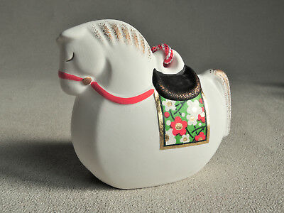 Japanese Clay Bell Dorei : White Horse