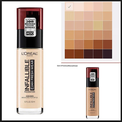 (1) Loreal Infallible 24 HR Fresh Wear Foundation With Sunscreen