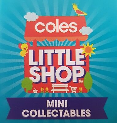 Coles Little Shop Mini Collectables - Original and Christmas Collection