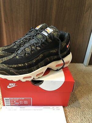 NIKE AIR MAX 95 x Carhartt WIP - UK 8 - Black   Total Orange   Sail ... 057f2c3ba