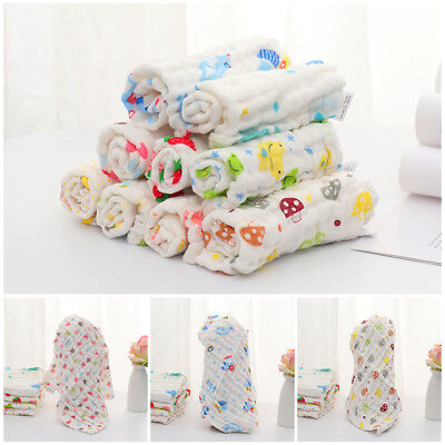 Baby Infant Newborn Cotton  Gauze  Feeding Wipe Cloth Bath Towel Washcloth