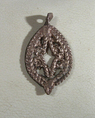 Vintage Antique Beautiful Bronze Pendant Filigree Medieval or post medieval /987