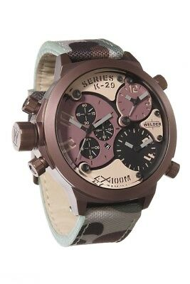 Welder by U-Boat Triple Time Zone Chronograph Camouflage Men's Watch K29-8005 SL