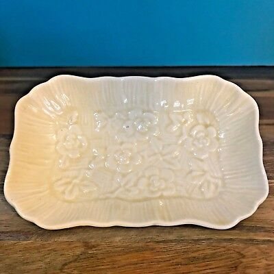 Antique L & Sons Hanley England Ware Yellow Flower Dish Vintage Collectable