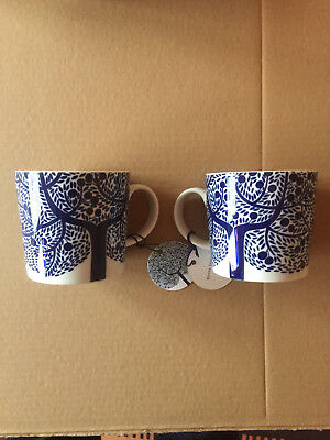 2 x Royal Doulton Fable Mugs in Dark Blue - New with Tags
