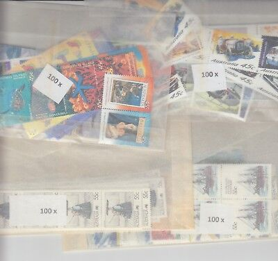 Australia postage stamps with gum face value $200  (2 stamp combo to make $1)nm