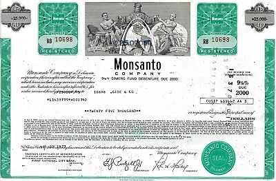 Monsanto Company, Delaware, (BAYER) 1975, 9 1/8% Debenture due 2000 (25.000$)