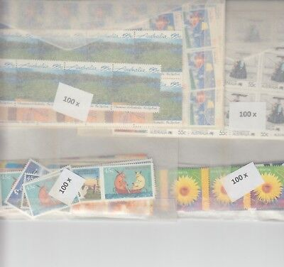 Australia postage stamps with gum face value $200  (2 stamp combo to make $1)nn